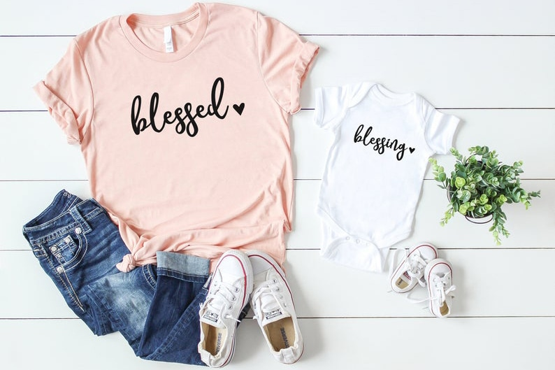 Mommy and Me Blessed Tee